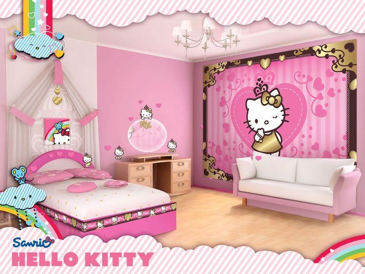idei amenajare fototapet Hello Kitty
