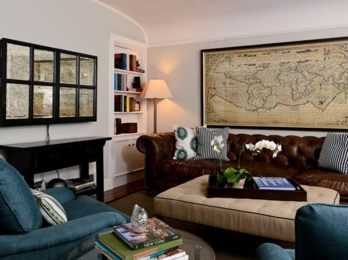 Die Besten 25+ Blau Ledercouch Ideen Auf Pinterest | Blaue Akzent ... Wohnzimmer Deko Blau