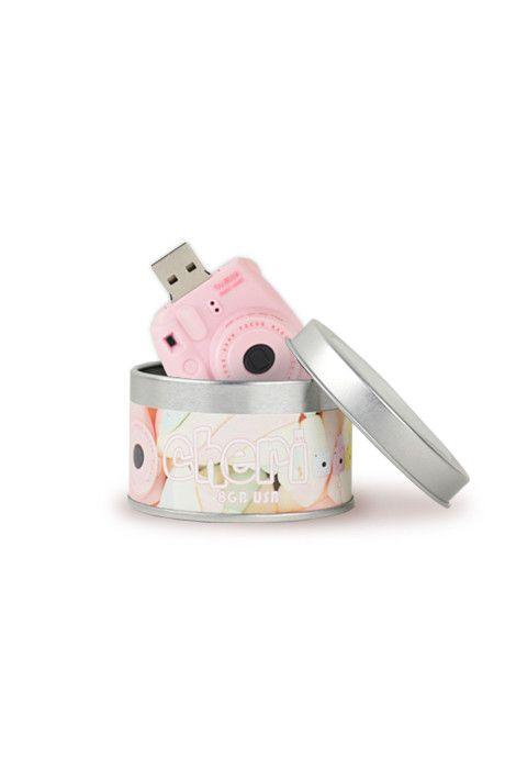 Plastic Cameras muistitikku instax mini pinkki
