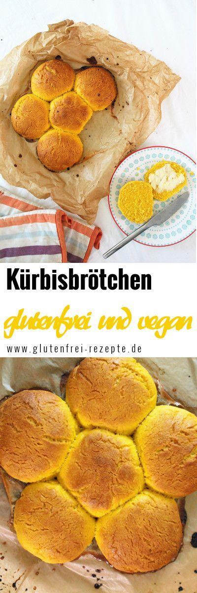 Glutenfreie Kürbisröllchen schmecken unglaublich lecker und leuchten schön gelb im …   – glutenfreies brot und glutenfreie brötchen