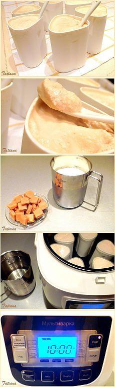 Йогурт карамельный в мультиварке