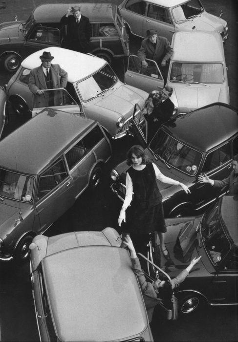 New York City Traffic.Jean Shrimpton, by David Bailey 1962