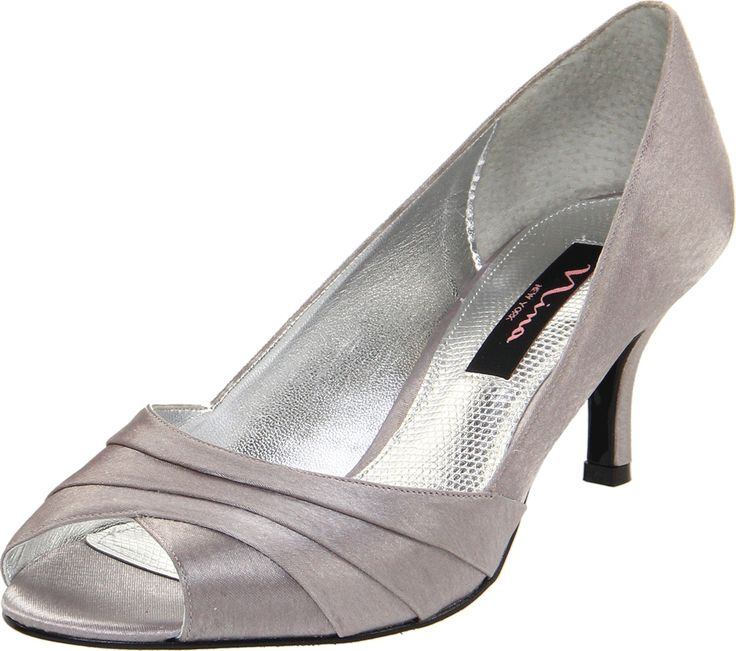 Nina Women's Criana Open-Toe Pump,Royal Silver,6.5 ...