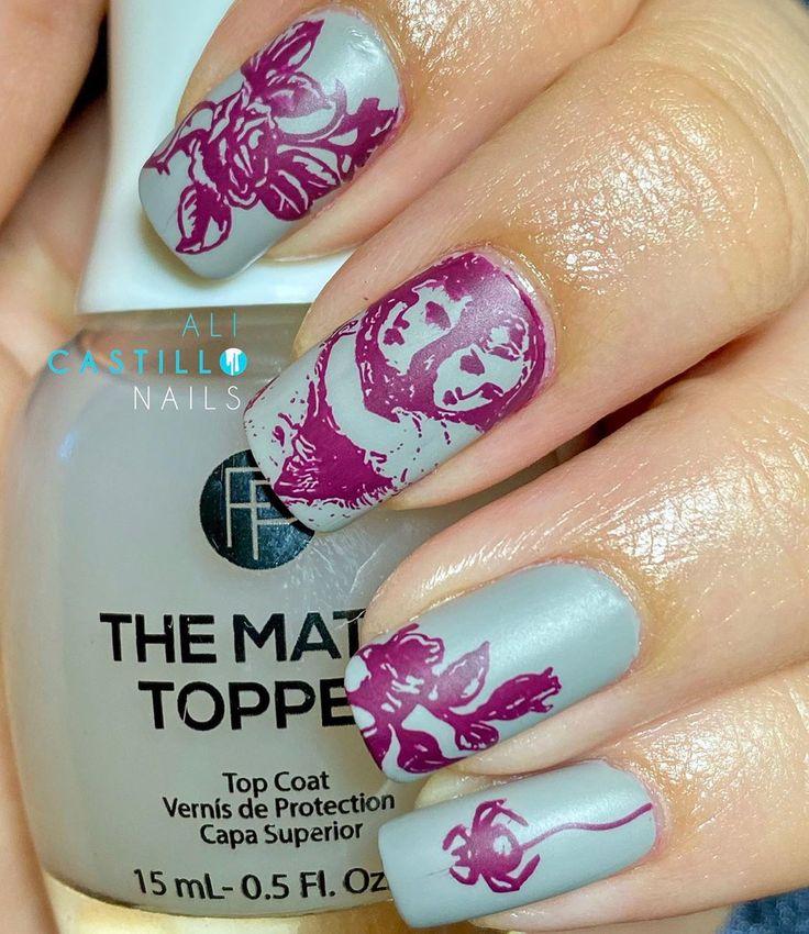 Ach nein! 31 Tage Nail-O-Ween! Verwendete Produkte: @MoYou_London Prägeplatte Hall …   – Nails