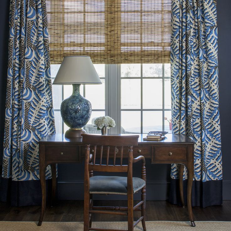 Alan Campbell Ferns curtains. Interior design by Andrew Howard.