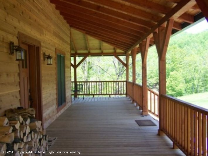 Wrap around porch for Pole barn with porch
