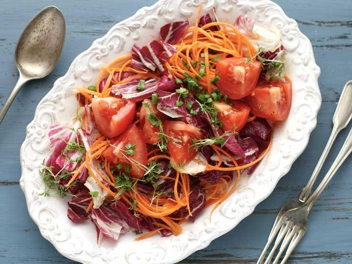 Radicchio Salat mit Kresse