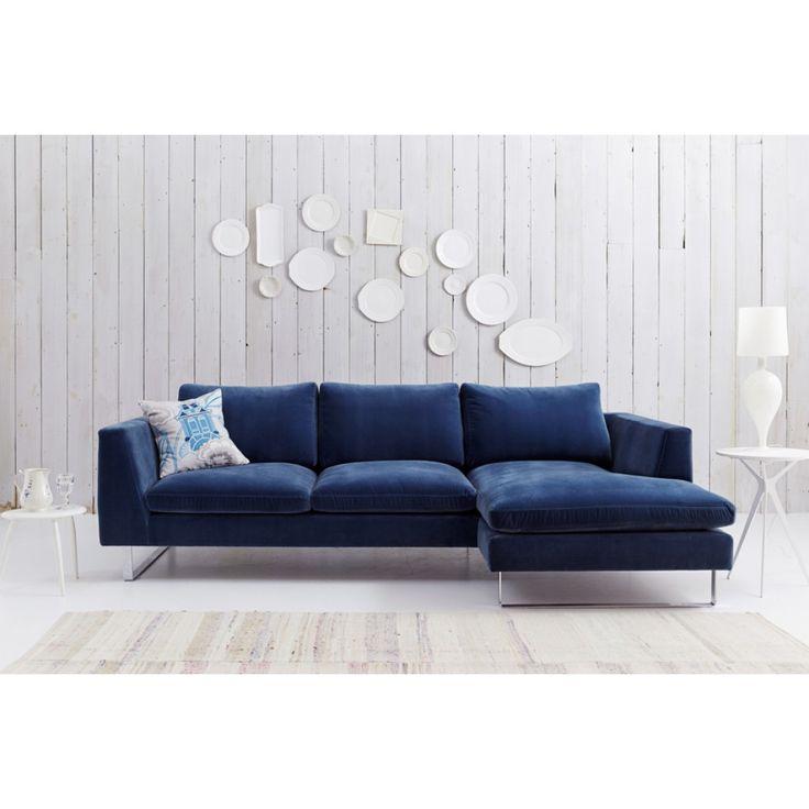 Sofa Table Bespoke Jasper Corner Sofa Right Hand Facing in Stain Resistant Velvet Atlantis In Stock Off