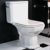 ADA CompliantYes  Bowl TypeElongated  CollectionMonarque  FinishPlain White  Flush TypeGravity  Gallons Per Flush1.6 GPF  Height28-3/4  Installation TypeFloor Mounted  Length24-3/4  Rough In12 in.  StyleTraditional  Toilet Seat IncludedYes  Type2 Piece  Width14-1/4