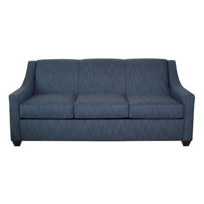 EdgecombeFurniture Phillips Queen Sleeper Sofa Finish: Empire Mahogany, Upholstery: Willow Midnight