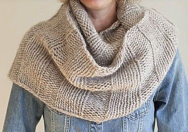 Free knitting pattern for Chunky Cowl by Heather Vantress