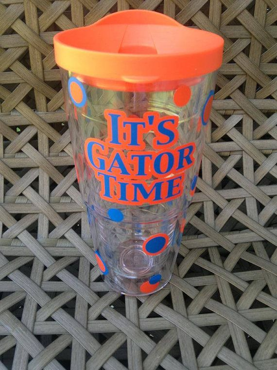 Florida Gator Cup It's Gator Time Football by KraftyKaboodles, $30.00