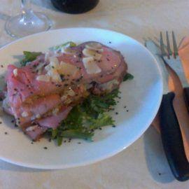 millefoglie di roastbeef e quinoa
