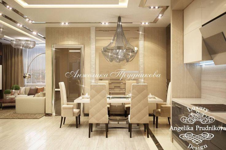 Интерьер квартиры в стиле Модерн на Мосфильмовской 2 - фото