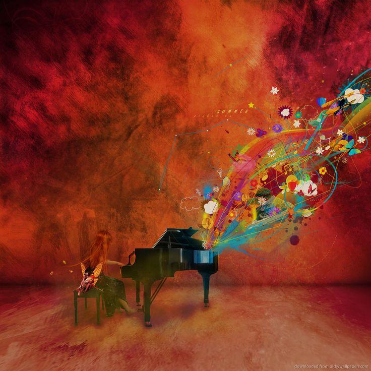 Colorful Piano Art
