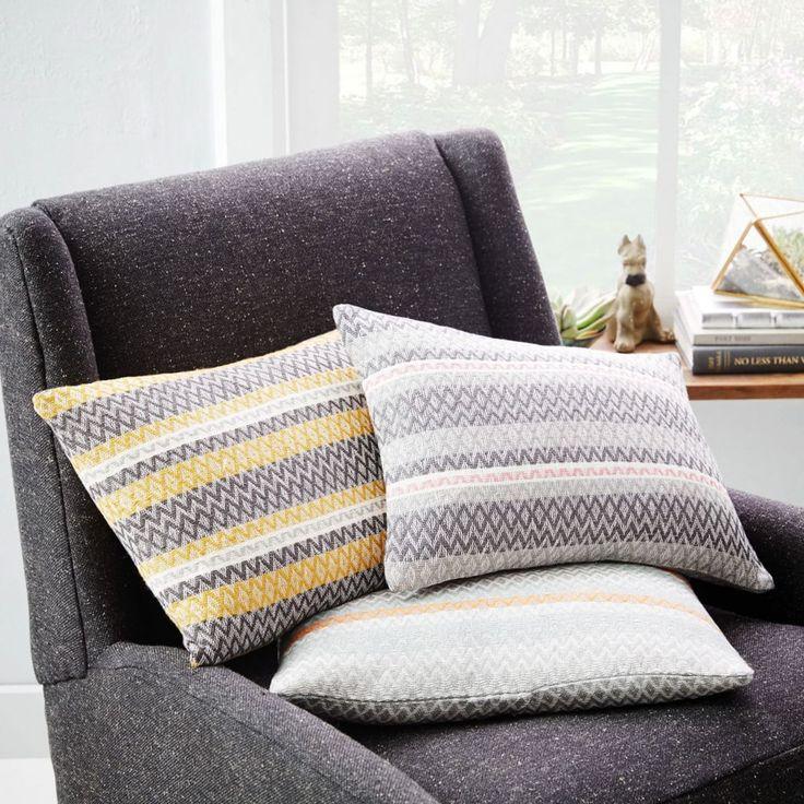 Handloomed Facet Cushion Cover - Horseradish