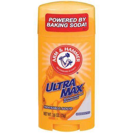 Arm & Hammer Ultramax Unscented Invisible Solid Antiperspirant Deodorant, 2.6 oz, Multicolor