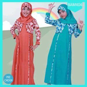 Fashion Baju Anak Gamis Muslim Aisyah Terlaris