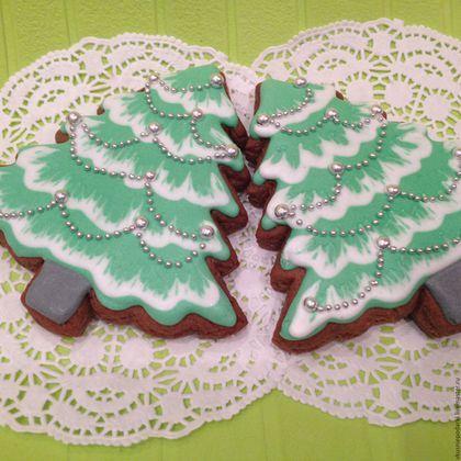 Kulinárske ručné suveníry. Fair Masters - ručná práca. Kúpiť perník vianočný stromček s korálkami. Ručné práce. Perník, Čeľabinsk