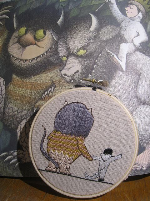 max and the wild thing #embroidery