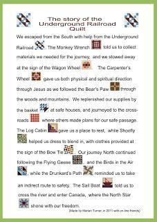 Lammys World of Quilting, Satchels & eBooks: Underground Railroad blocks