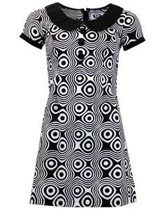 MADCAP ENGLAND Dollierocker Op Art Retro 1960s Mod Dress