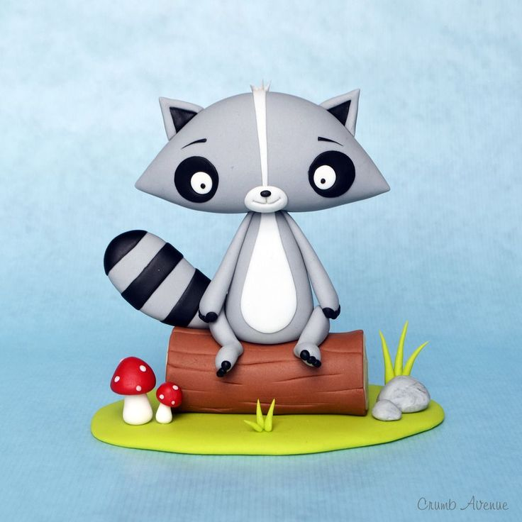 Sugar Paste Tutorial for a Little Raccoon | Can be adapted to polymer clay