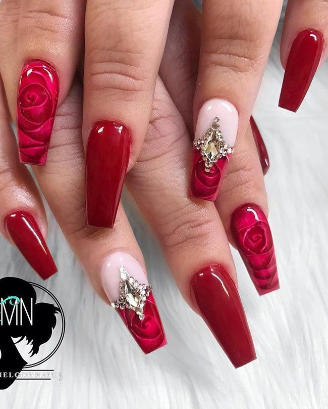 30 Cool Long Coffin Nail Designs 2019 Fashions Eve In 2019 Coffin Nails Long Nail Designs
