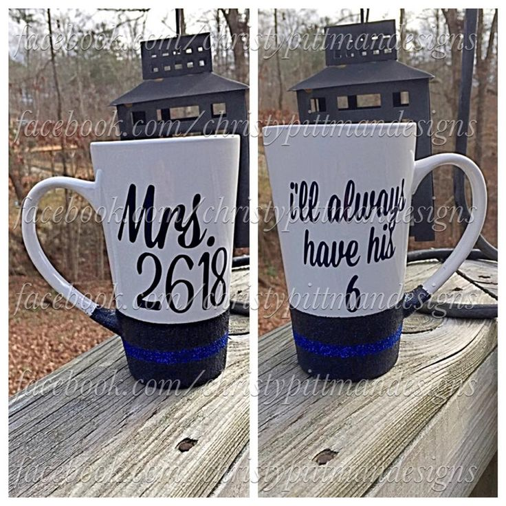 Glitter Thin Blue Line Coffee Mug, Blue Line Gift, Police, Sheriff, Badge Badge Number by BlueLineCraft on Etsy