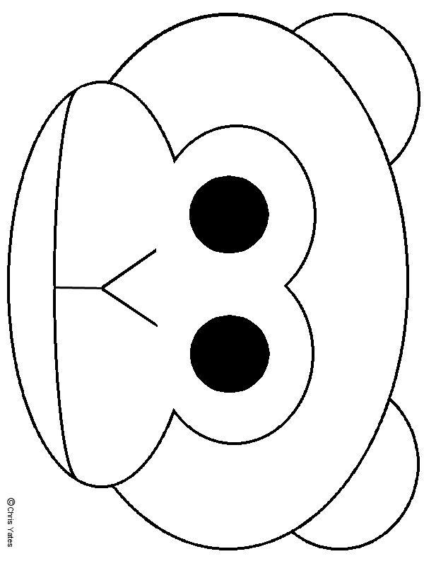 Monkey mask, Monkey and Masks on Pinterest  Monkey mask, Mo...