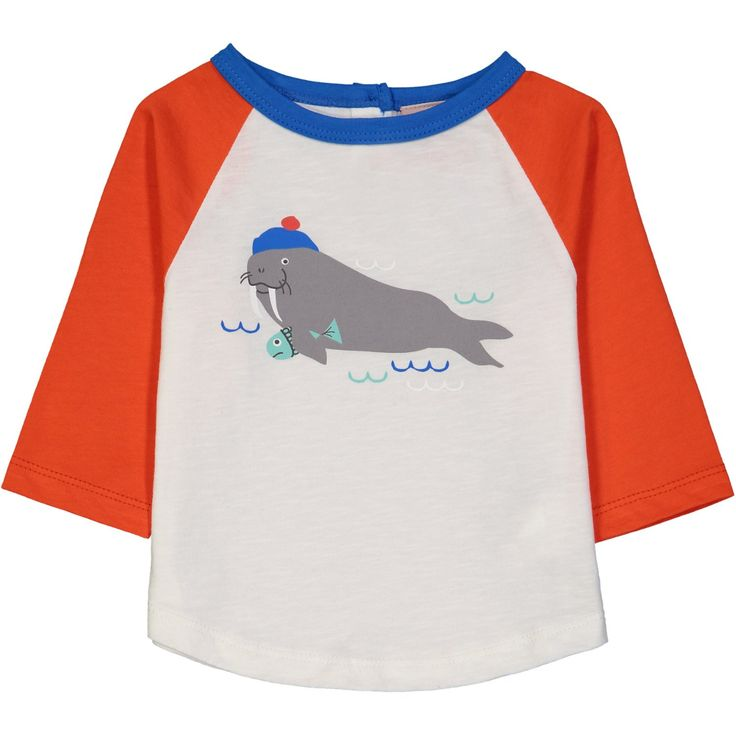 Fargo Walrus on Organic Cotton. From Tootsa MacGinty. Available at Modern Rascals.