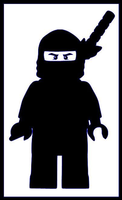 Lego ninja silhouette