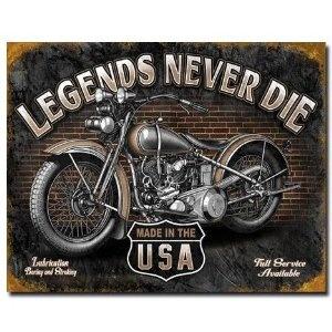 Legends - Never Die Tin Sign , 16x12