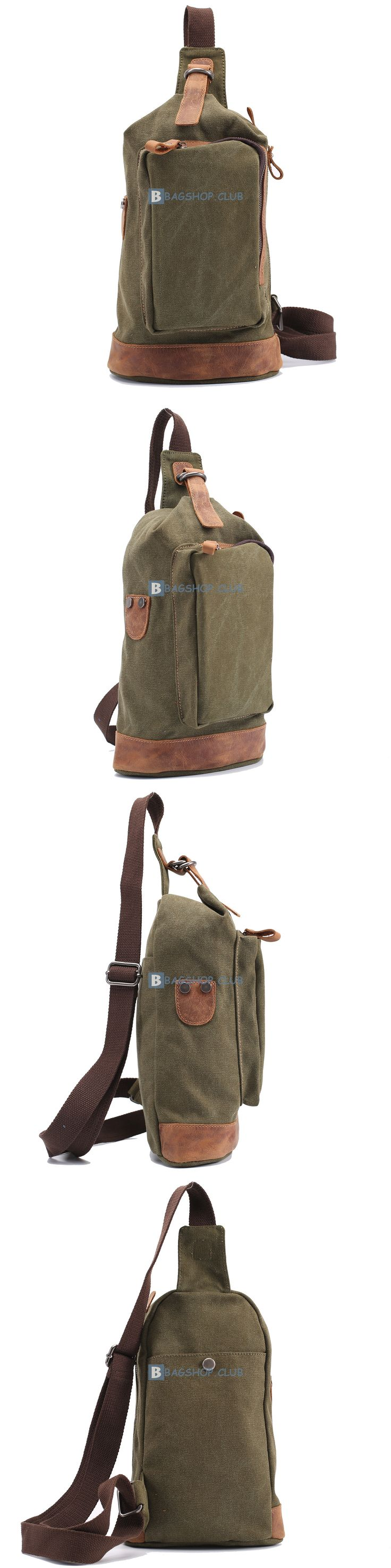 Canvas Sling Bags For Men Single Strap Backpacks