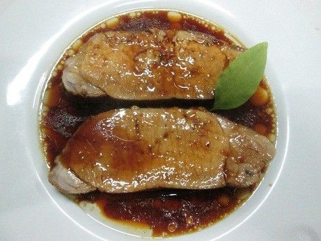 Cerdo al coñac Ver receta: http://www.mis-recetas.org/recetas/show/63101-cerdo-al-conac