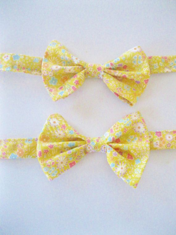 Yellow Kids Tie Liberty of London Print Bow tie by staghandmade, $32.00