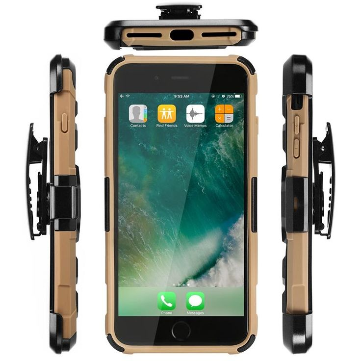 3 in 1 Armor Belt Clip kickstand Holder Invisible Bracket Hard PC Cover Case for…