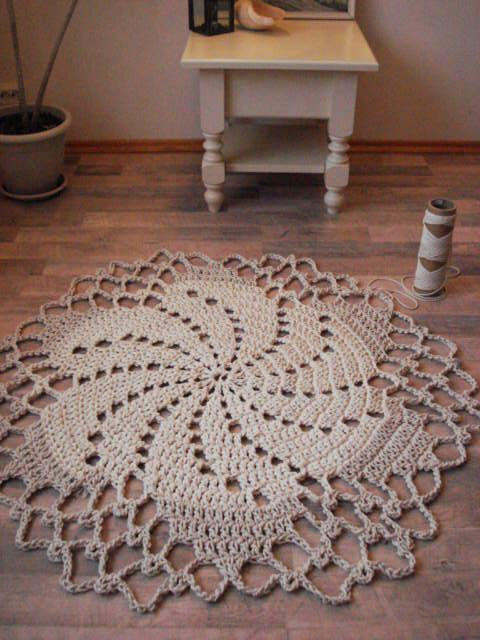 Crochet Rope Cord Giant Doily Rug 100 Cotton by ELITAI on Etsy,