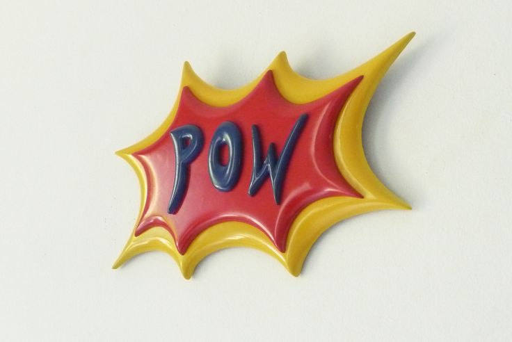 POW..!!!! Unique Wall Plaques by Funky Mirrors... <3 Love Batman..?