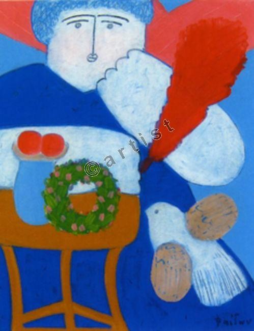 Φαίδων Πατρικαλάκις, Χωρίς τίτλο, 2004, λάδι σε μουσαμά, 45 x 35 εκ.