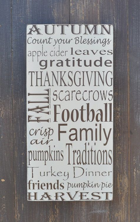 Fall Decor Sign, Thanksgiving Decor, Custom Wood Sign, Home Decor, Wall Art on Etsy, $68.00