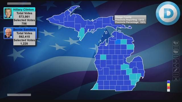 Michigan Democratic Presidential Primary Election Results By Cou - Northern Michigan's News Leader
