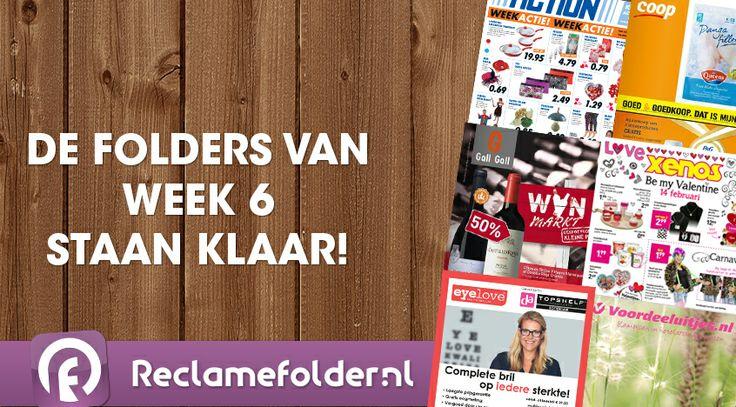 De folders van week 6 staan weer klaar. Bekijk de folders op Reclamefolder.nl of download de app.