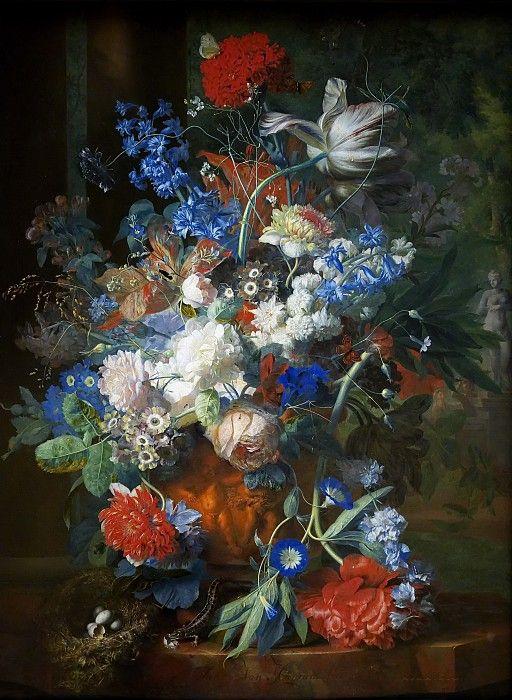 Ян ван Хейсум -- Букет цветов в парке.