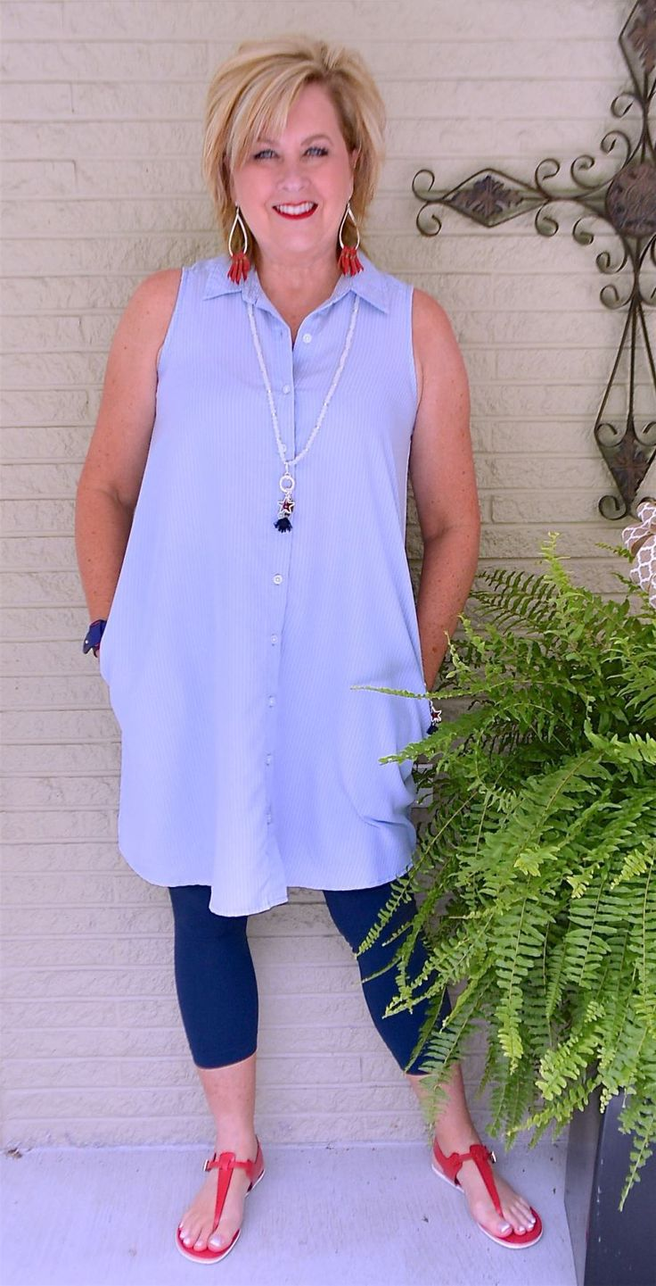 50 IS NOT OLD | SHIRT DRESS WITH LEGGINGS