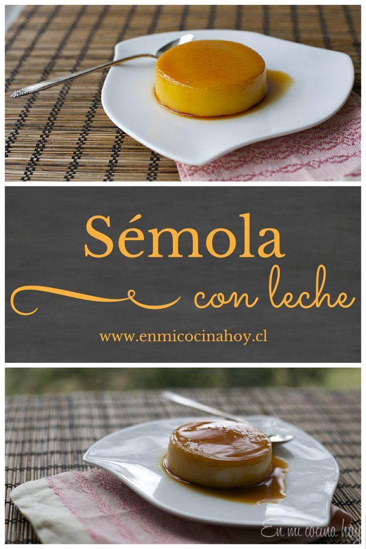 Sémola con leche y caramelo, receta tradicional chilena