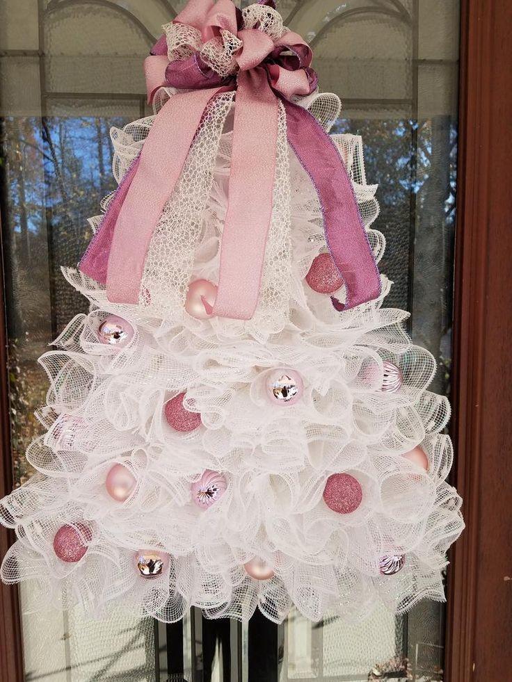 Elegant Christmas Tree Door / Wall Hanger with Battery