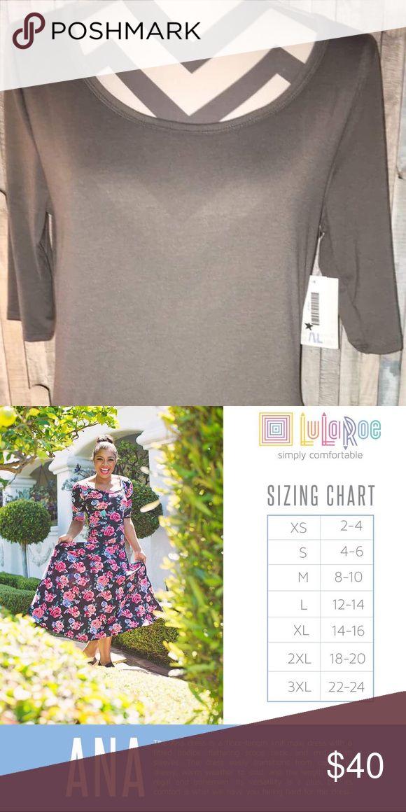 New LuLaRoe XL Ana Dress. New LuLaRoe XL Grey Ana Dress. LuLaRoe Dresses Maxi