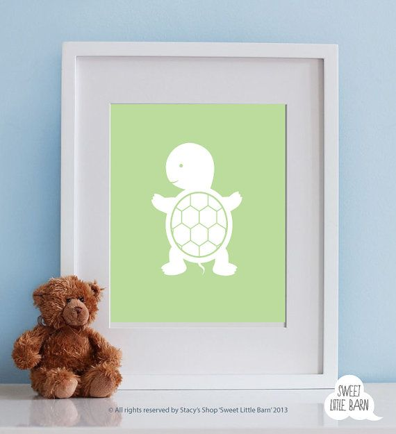 Baby Boy Nursery Art 8x10 Boys Room Decor, Baby Boy Gift for Boy, Boys Wall Art, Safari Nursery Decor Playroom Boys Art, Turtle Nursery Art on Etsy, $14.99
