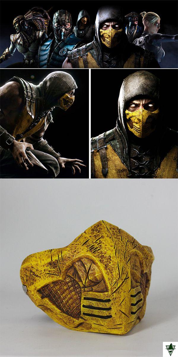 Mortalkombat Scorpion Partymask Masquerade Cosplays